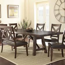 Steve Silver Dining Room Furniture Steve Silver Clapton Trestle Table With 2 Leaves Rooms For Less