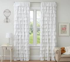 White Linen Blackout Curtains Appealing White Ruffle Blackout Curtains And Black Curtain