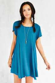 silence noise witchy t shirt dress in blue lyst