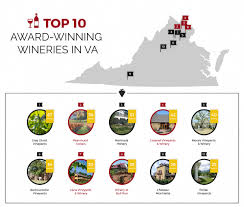 Map Of Virginia Wineries by Virginia U0027s Top Award Winning Wineries Reston Limousine