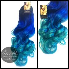 blue hair extensions in hair extensions mermaid ombre blue and turquoise