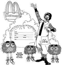 mcdonalds coloring pages eson me