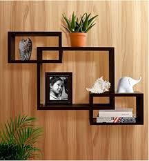 Wall Shelves Amazon by Shelving Solution Intersecting Boxes Wall Shelf Espresso