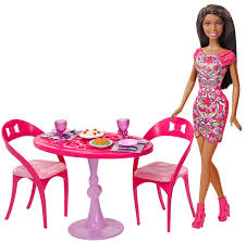 american doll dining table barbie african american doll and dining room set