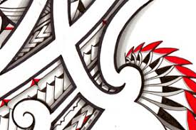 polynesian mauri inspired tribal tattoo designs buy high