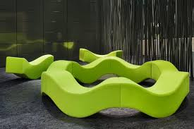 modular upholstered bench original design fabric commercial
