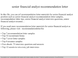 awesome collection of recommendation letter financial advisor also