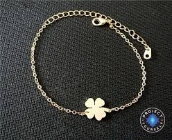 lucky leaf bracelet images Lovely stainless steel lucky four leaf clover charm bracelet jpg