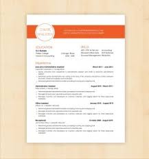 Colorful Resume Templates Free Resume Template 93 Amusing The Best Format Office Assistant