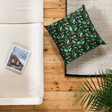 black patterned cushions nest building materials green black giant floor cushion b goods