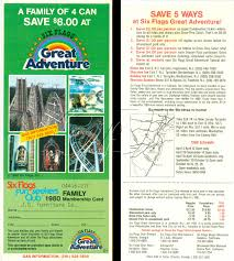 Six Flags Schedule Six Flags Great Adventure Funseeker Cards