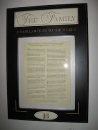 framed family proclamation the family proclamation framed with temple picture gifts