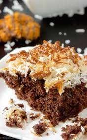 easy samoa sheetcake u0027s day