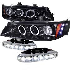 97 honda accord lights combo 94 97 honda accord dual halo led glossy black projector