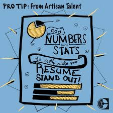 How To Make A Talent Resume Math Matters Adding Quantifiable Statistics To Make Your Resume Pop