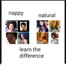 Natural Hair Meme - when your image is a symbol of self hatred afro state of mind