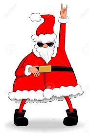 funny fat santa claus dancing and partying royalty free cliparts