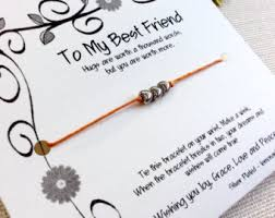 best friend gift gift for best friend wish bracelet