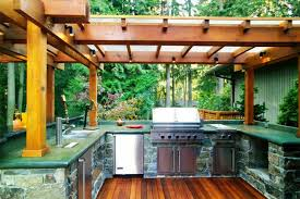 outdoor kitchen roof ideas diy outdoor kitchen kits wood and glass canopy spotlight concrete