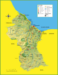 Map Of Mexico Resorts by Large Detailed Tourist Map Of Guyana