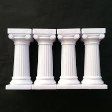 cake pillars 2017 3 inch high white grecian pillars mold cake fondant