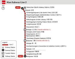 Metro Time Table Xian Metro Line 2 Subway Stations Timetable Intervals
