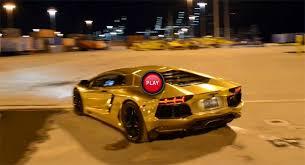 gold lamborghini aventador lamborghini aventador gold wrapped copy doing turns on