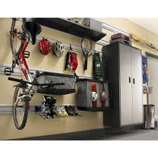 Garage Shelving Home Depot by Gladiator 24 In W Ball Caddy Garage Storage For Geartrack Or