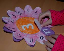 multiplication and division flower learning aids ofamily