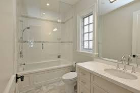 Bathroom Tub Shower Doors Modern Style Bathroom Glass Tile Tub Bathroom With Seamless Glass