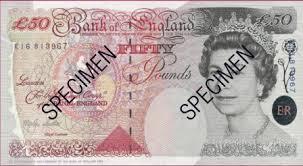 bureau de change livre sterling devises retrait du billet de 50 livres sterling édition de 1994