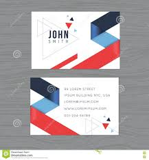 Red Business Cards Modern And Clean Design Business Card Template In Blue And Red