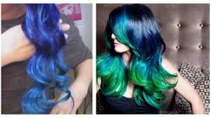Purple Remy Hair Extensions by Diy Ombre Blue Hair By Hair Extensions Youtube