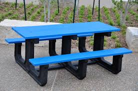 Recycled Plastic Outdoor Furniture Recycled Plastic Park Place Picnic Table By Jayhawk Plastics