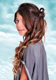 black preteen hair long curled and looped teen girls hairstyle for festivities and