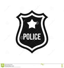 police badge icon simple style stock vector image 79584651
