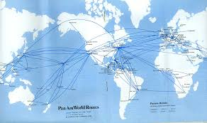 Alaska Airlines Map by Route Map 1978 Pan American World Airways Timetables
