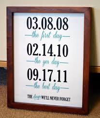 best 1 year anniversary gifts way to display the most important and best days of you and