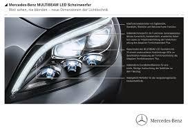 led intelligent light system vorsprung durch besseres licht multi beam led im mercedes cls