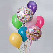 lilly s floral happy birthday balloon bouquet