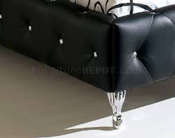 Tufted Leather Headboard Nelly Bedroom By Esf With Black Tufted Leather Headboard