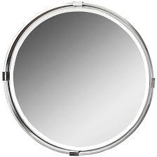 Classy Mirrors by Tazlina Brushed Nickel Round Mirror 30