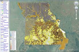 missouri map images interactive map of missouri s geology and resources