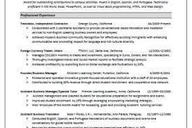 Spanish Interpreter Resume Sample by Job Resume For Interpreter Reentrycorps