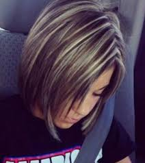 bob hair with high lights and lowlights just enough highlights very pretty hair and makeup ideas