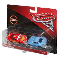 cars sally and lightning mcqueen disney pixar cars 3 die cast lightning mcqueen and sally 2 pack