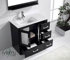 36 bathroom cabinet virtu usa zola 36 single bathroom vanity set in espresso