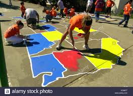 Map Of The Continental United States by Volunteers Paint A Colorful Map Of The Continental United States