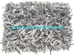 Leather Shag Rug Leather Shaggy Carpets White Shaggy Carpets Exporter From New Delhi