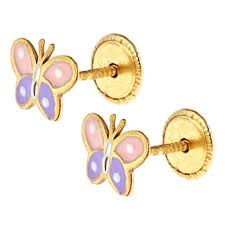 back earrings for toddlers butterfly ladybug back earrings for children the jewelry vine
